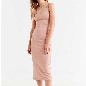 Urban outfitters ribbed midi tank dress